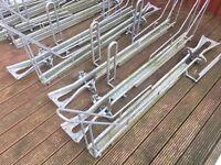 10 X Bicycle Racks / Carriers Galvanised For Trailer / Van / Storage