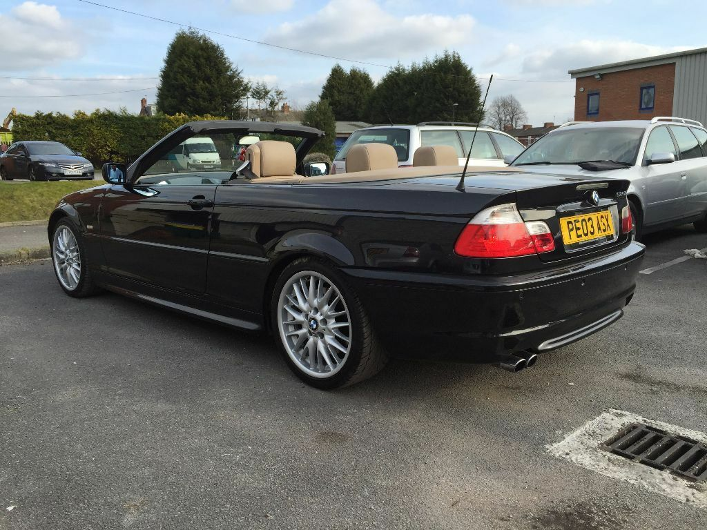black bmw 330ci convertible msport automatic e46 full service history 325 320 in burnage. Black Bedroom Furniture Sets. Home Design Ideas