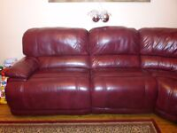 Stunning Corner Sofa And Chair { Cat35 Type Leather }