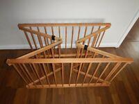 Rimu (NZ) wooden folding playpen for sale