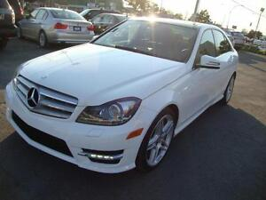 """2013 Mercedes C350 4MATIC NAVIGATION 18""""MAGS 34,105KM! Blanche-N"""
