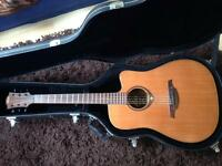 French electro-acoustic guitar good shape