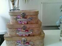 Small french shabby chic vintage cases