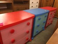 Kids chest of 3 draws / bedroom furniture
