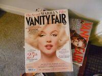 Vanity Fair magazine 27 copies 2008/9/10