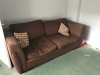Brown sofa and chair - needs to be gone today