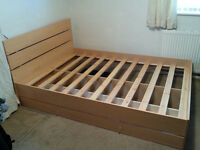 Double bed base & headboard.
