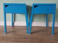 Ikea Bedside Units - Blue - Brand New
