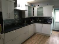 7 BASE UNITS AND 7 WALL UNITS, INC WORKTOPS, SINK, TAPS AND ALL APPLIANCES