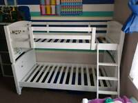 White Wooden Bunk Bed with 2 Mattresses! Amazing Offer!