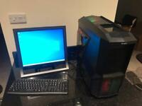 Gaming PC full setup Intel Core i5 3.4ghz quad core, Nvidia GTX 650 graphics, SSD & hdd
