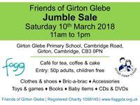 Jumble Sale, Saturday 10th March, from 11am, Girton Glebe Primary School