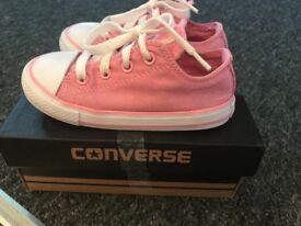 Pink glitter child's converse size 8