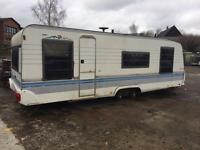 hobby 2001 twin wheel caravan SPARES OR REPAIRS