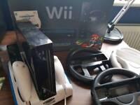 Boxed Nintendo Wii - Mario Kart black edition
