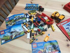 Lego City & Junior Bundle & Lego storage boxes
