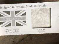 BRITISH CERAMIC WALL TILES, 250x500mm (16 tiles)