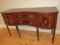 Elegant dark wood sideboard