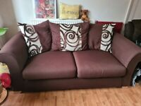 Brown 2 seater sofa