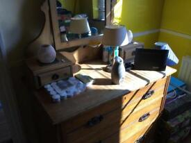 Very old dressing table in not to bad condition. Must be 80 plus years old
