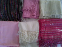 Selection of 6 scarves/shawls