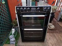 belling ceramic electric cooker 60 cm double oven like new
