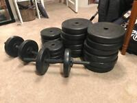 Set of weights (in total 83 kg)