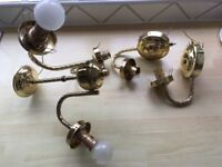 Centre light fitting and two wall light fittings