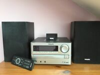 Phillips stereo system with iPod docking