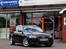 AUDI A4 2.0 TDi SE TECHNIK AVANT ESTATE 5dr (175) ** SAT NAV + LEATHER ** (black) 2014