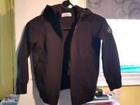 Stone Island black soft shell jacket age 6 100% genuine