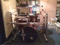 Ddrum Diablo 5 Piece Drum Kit + Stands, Cymbals and Double Bass Pedal