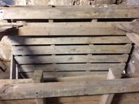 Three wooden pallets in good condition