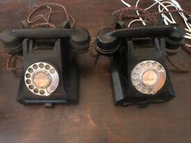 Bakelite telephones