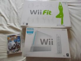 Nintendo Wii Console (RVL-001) + Wii Fit Board + Plus 1 x Game - Rayman Raving Rabbids 2