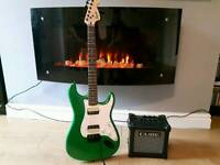 Squire Stratocaster and Roland Micro Cube as new