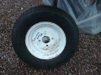TRAILER WHEEL WITH 145 X 10 MARSHAL STEEL BELTED RADIAL 771 TYRE
