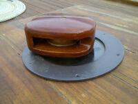 hardwood sail block tufnol sheaves