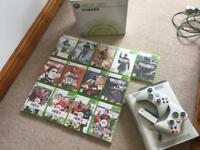 Xbox 360 60GB, 2 Controllers, Wireless Adapter and 13 Games.