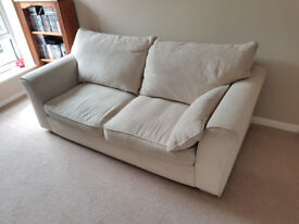 Beige fabric 3 seater sofa and arm chair for sale