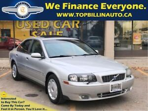 2004 Volvo S80 2.5T AWD Sunroof, 2 YEARS WARRANTY