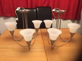 3 lamp light fittings