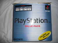 PLAYSTATION PS1 CONSOLE, CONTROLLERS