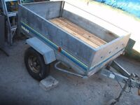 Trelgo tipping trailer. 5ft x 3.5ft / 500kg