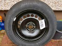 Spare wheel and tyre for a Vauxhall Corsa 185/55 16