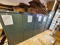 Metal industrial storage cabinet