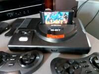 Saga mega drive HD with original cartridge gamrs