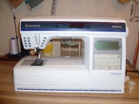 husqvarna design 2 sewing / embroidery machine, as new in boxes price reduced