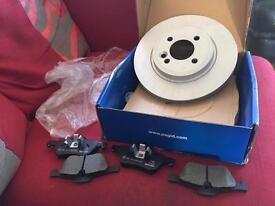 Mini 2001-2006 Pagid brake discs and pads