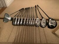Black cat tour nicr golf set+odyssey putter+M1 3wood and rescue wood